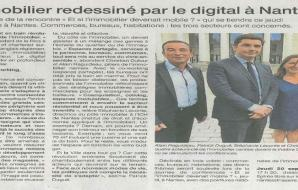 Ouest France : The real estate redrawn by the digital in Nantes